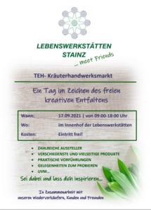 TEH-Kräuterhandwerksmarkt @ Innenhof der Lebenswerkstätten Stainz
