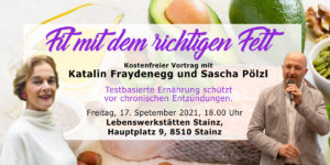 Fit mit dem richtigen Fett- Vortrag @ Lebenswerkstätten Stainz, Seminarraum, 1.Stock